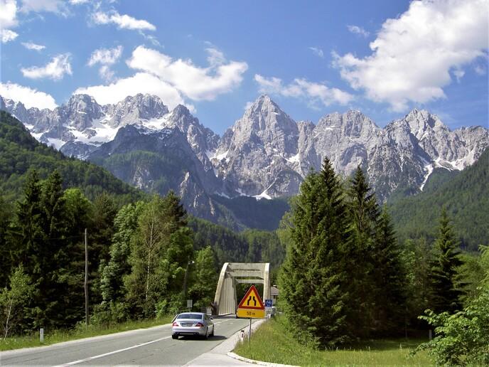Vyhlídkové silnice v Julských Alpách