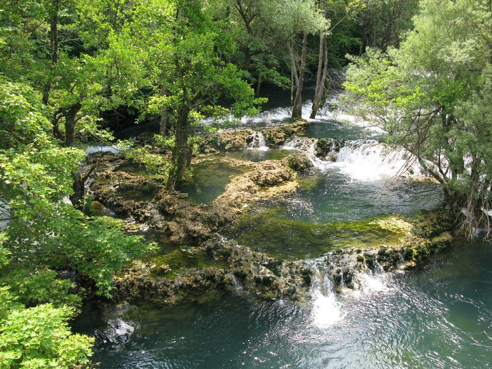 Vodopády Martin Brod na řece Una
