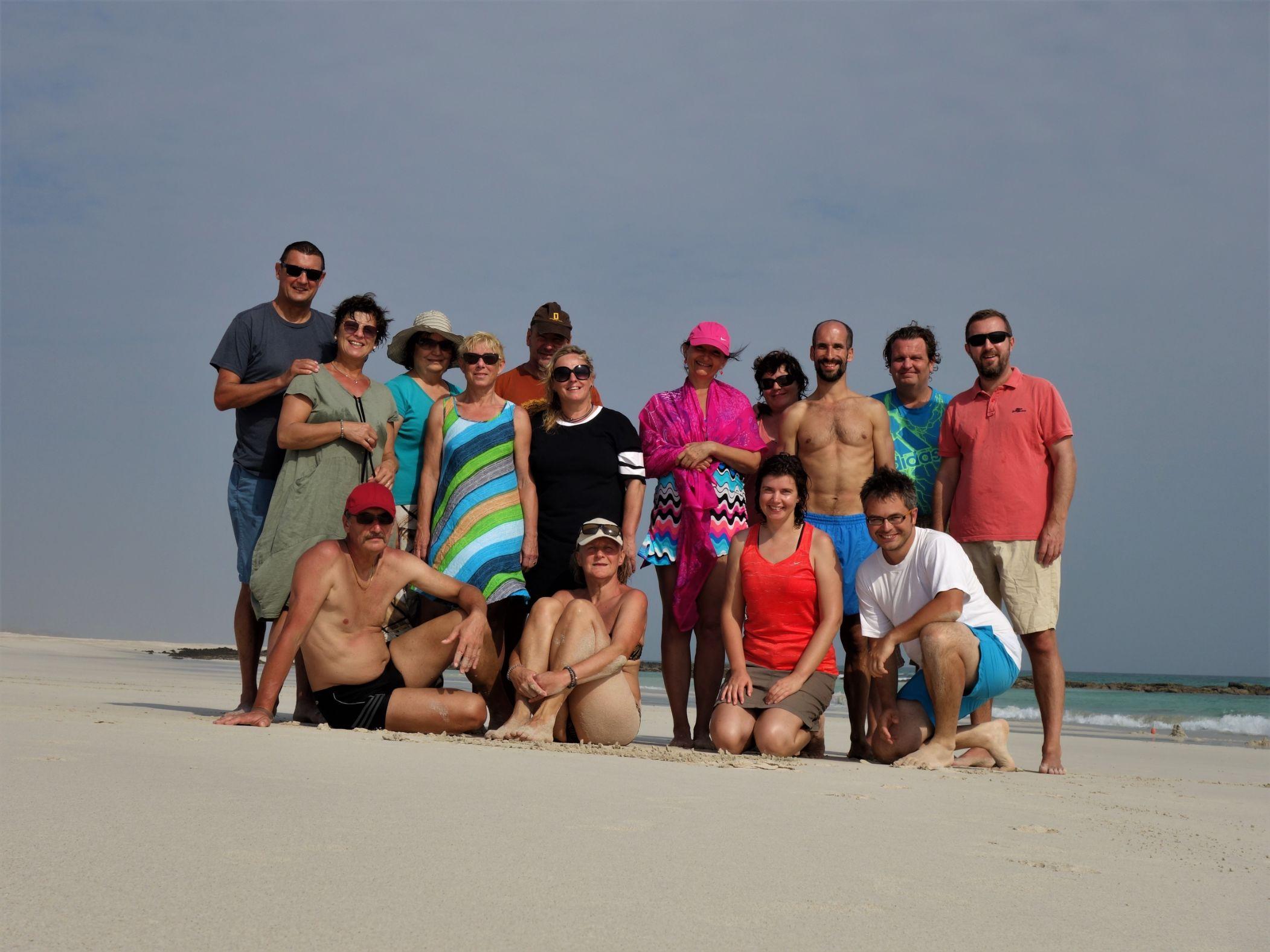 Naše skupina na ostrově Masirah