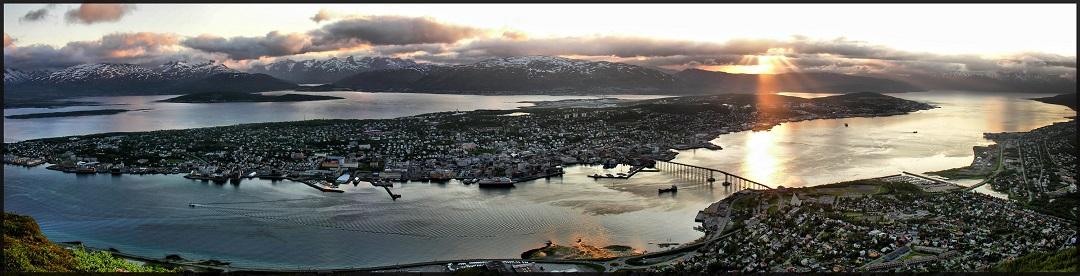 Západ slunce nad Tromso