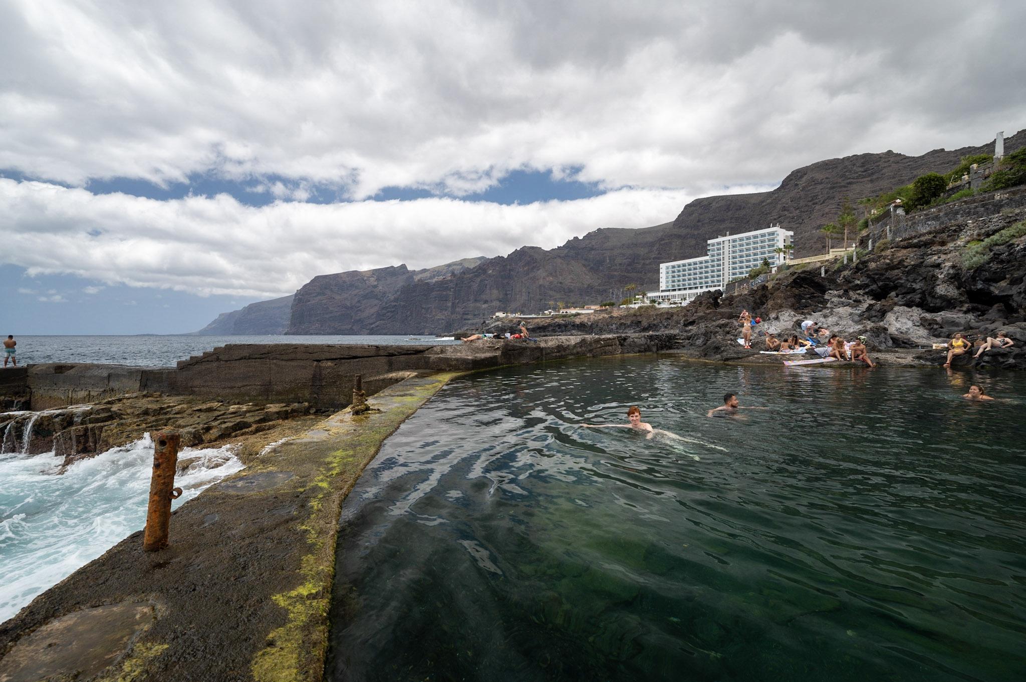 Koupání v lávových bazénech na Tenerife