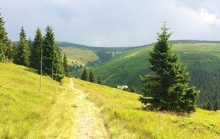 Cesta z boudy Na Pláni ke Klínovkám