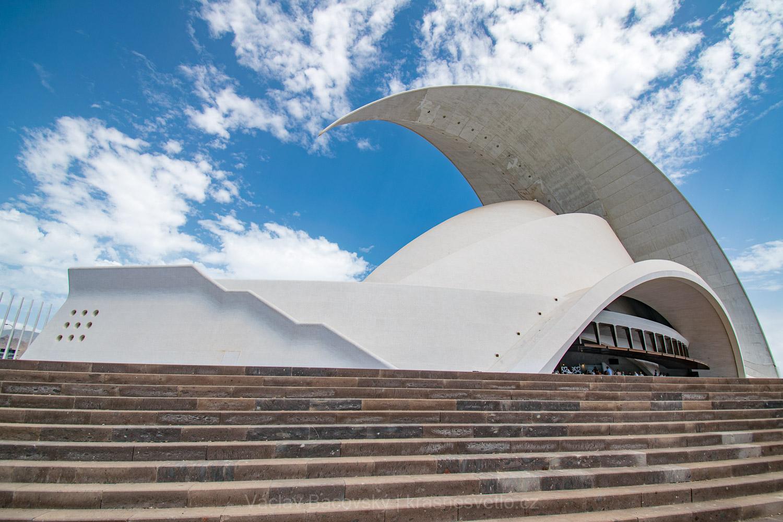 Budova opery Auditorio de Tenerife Adán Martín v Santa Cruz de Tenerife