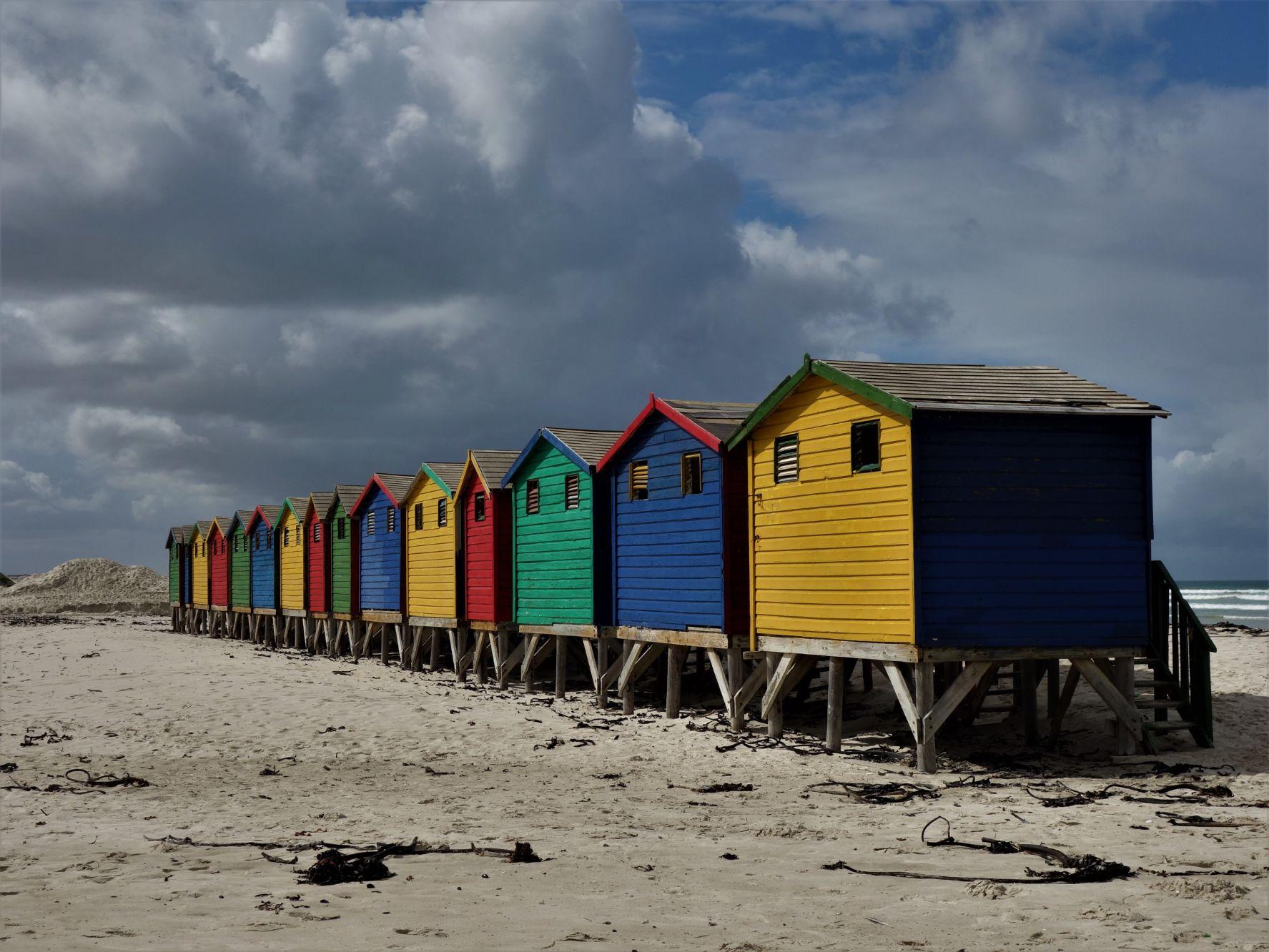Pláž Muizenberg v Kapském Městě