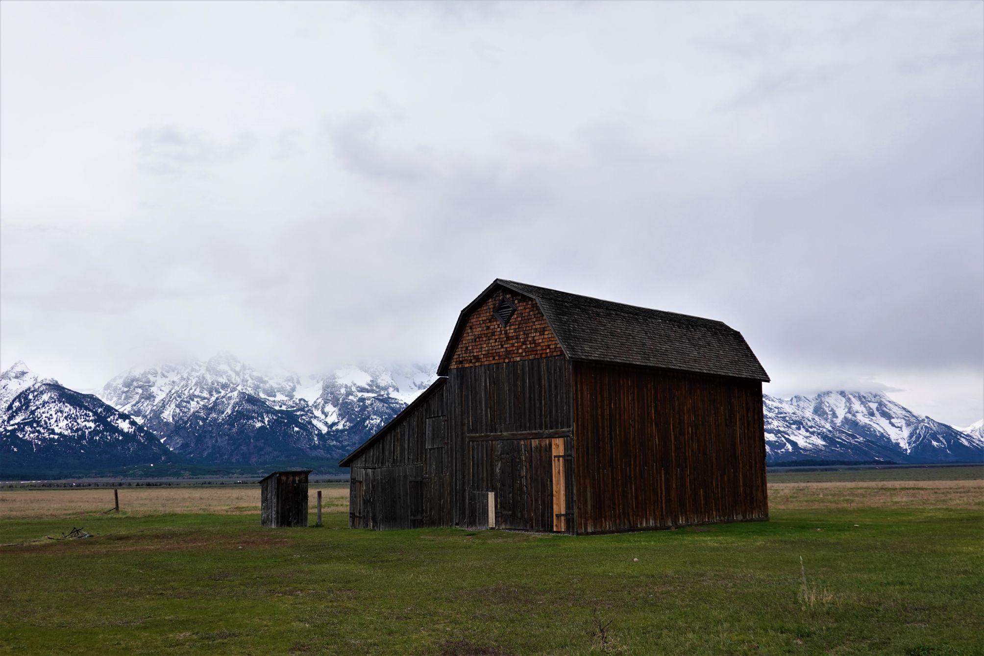 Mormonské stavby v NP Grand Teton