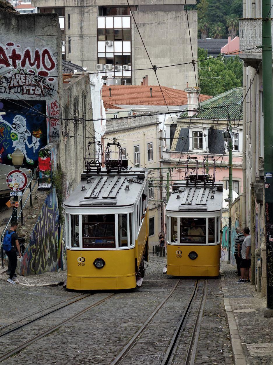 Proslulé žluté tramvaje v Lisabonu