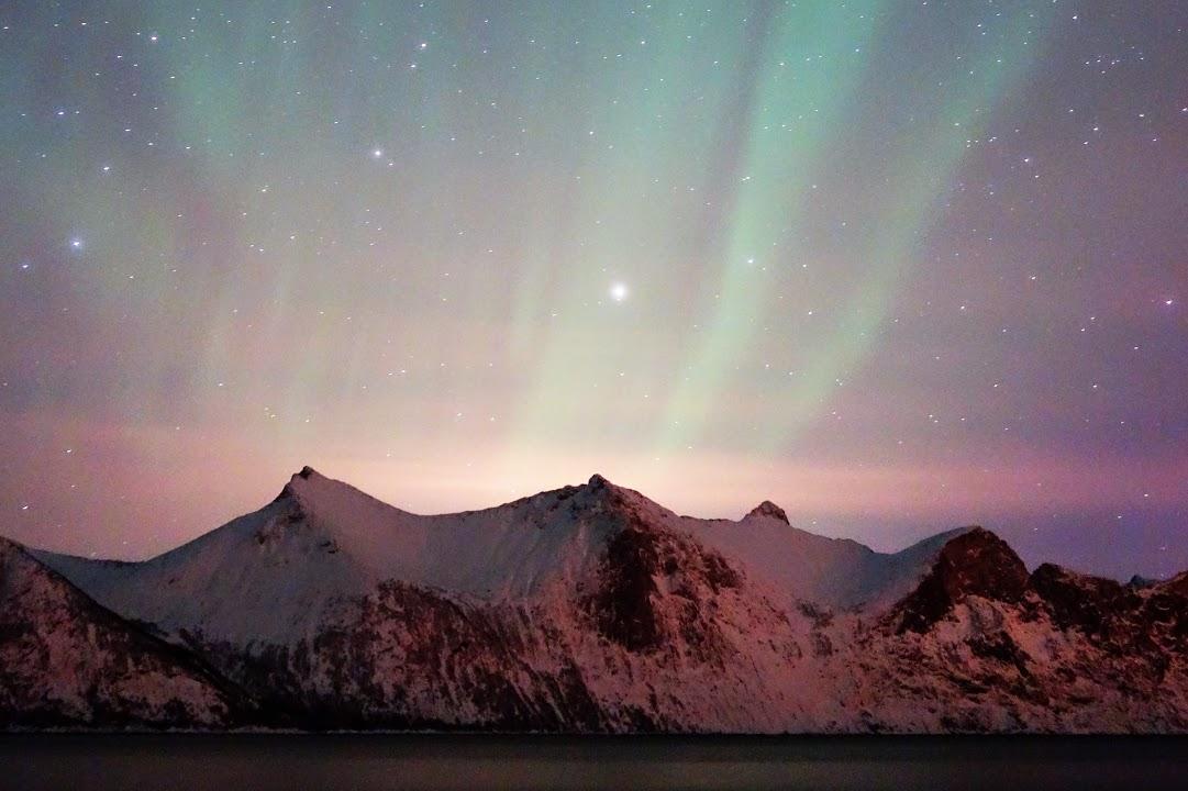 Večerní pozorování polární záře