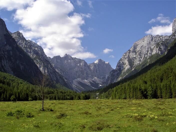 Malebné údolí v Julských Alpách