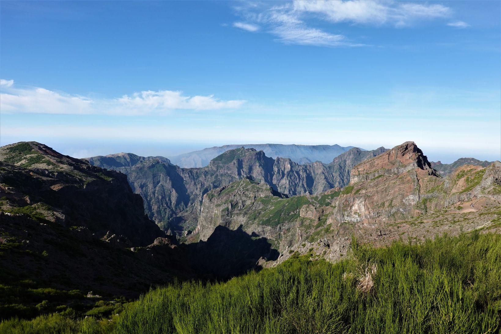 Madeirský centrální masiv - vrcholové partie Madeiry