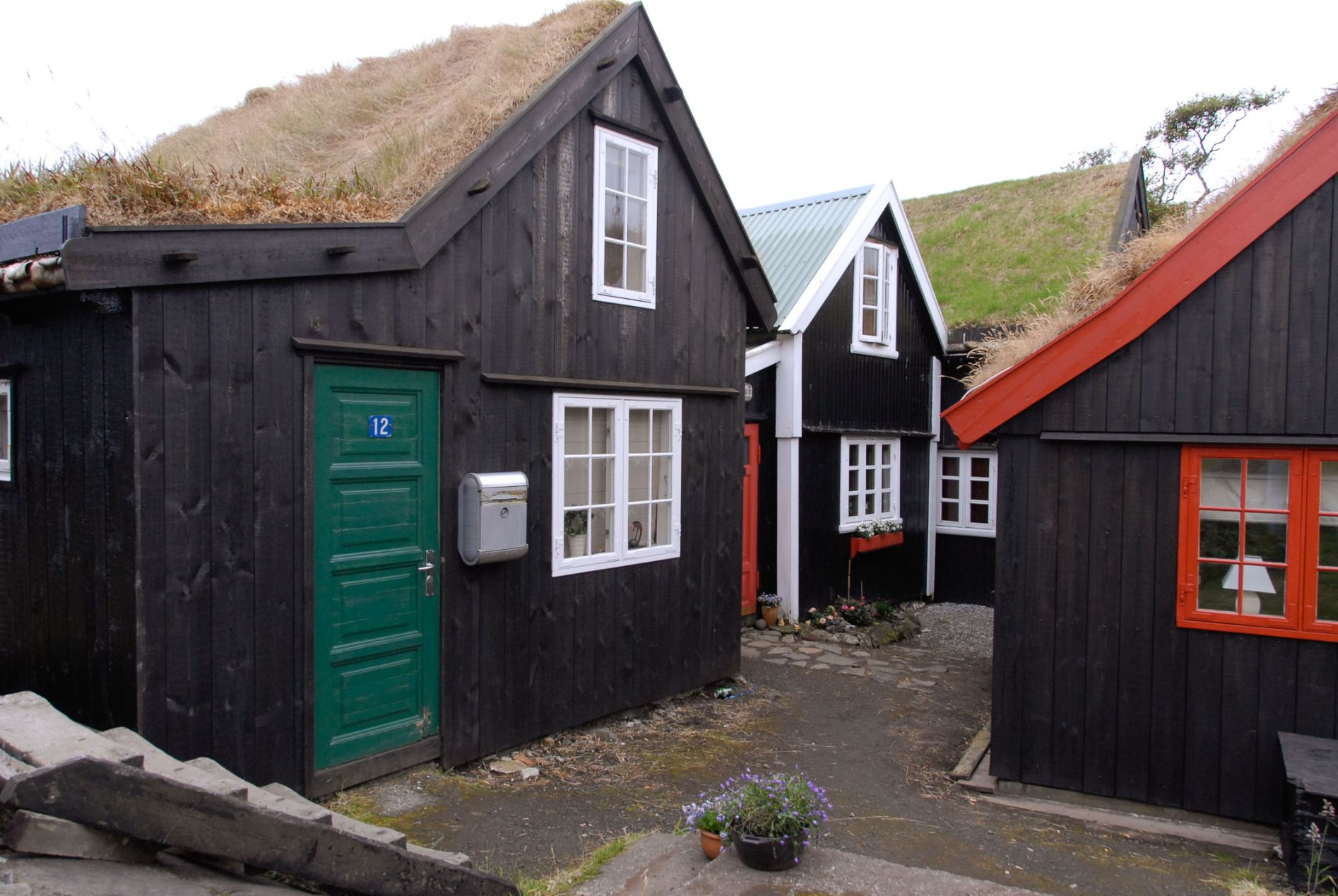 Stará zástavba v Tórshavnu, faerské metropoli