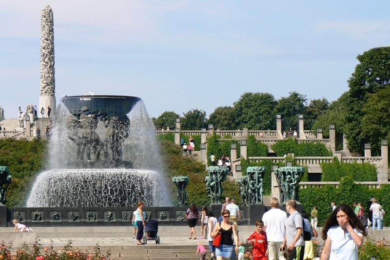Oslo- Frogner park v centru