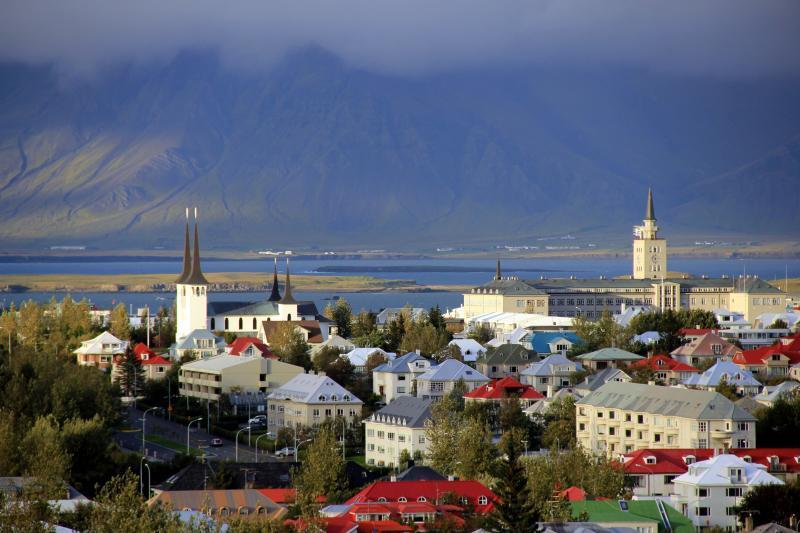 Hlavní město Reykjavík