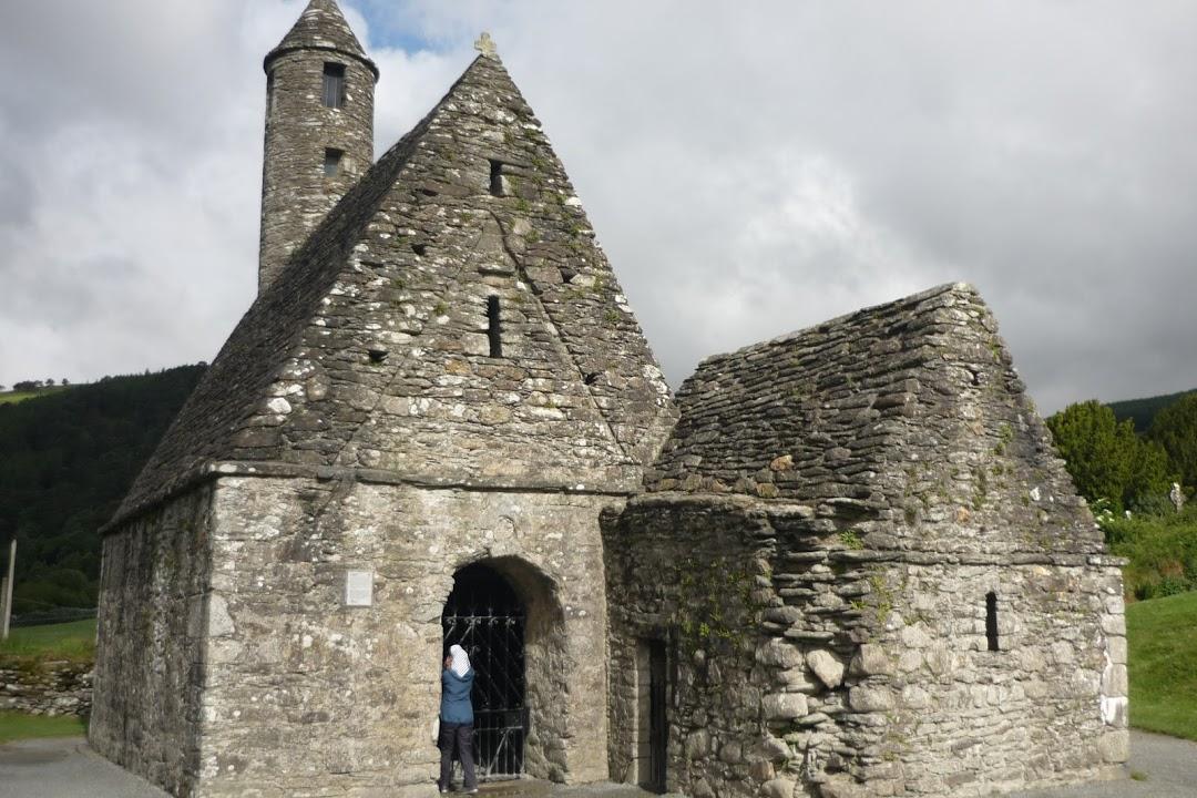 Dochovalé zbytky kláštera Glendalough