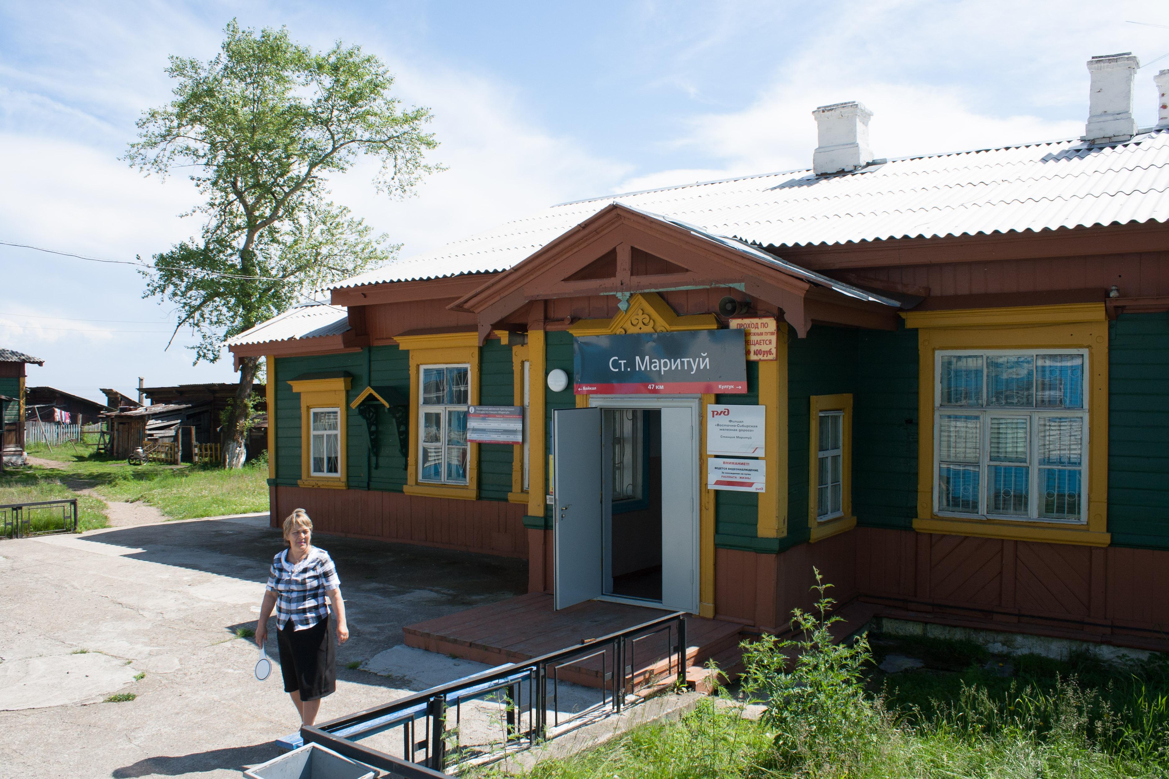 Bajkal - stanice krugobajkalky Marituj