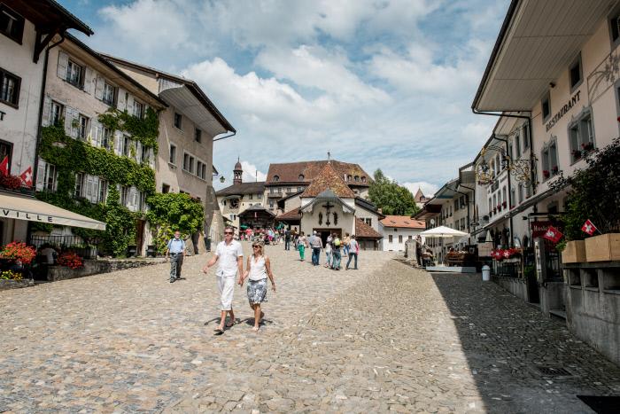 Centrum městečka Gruyeres