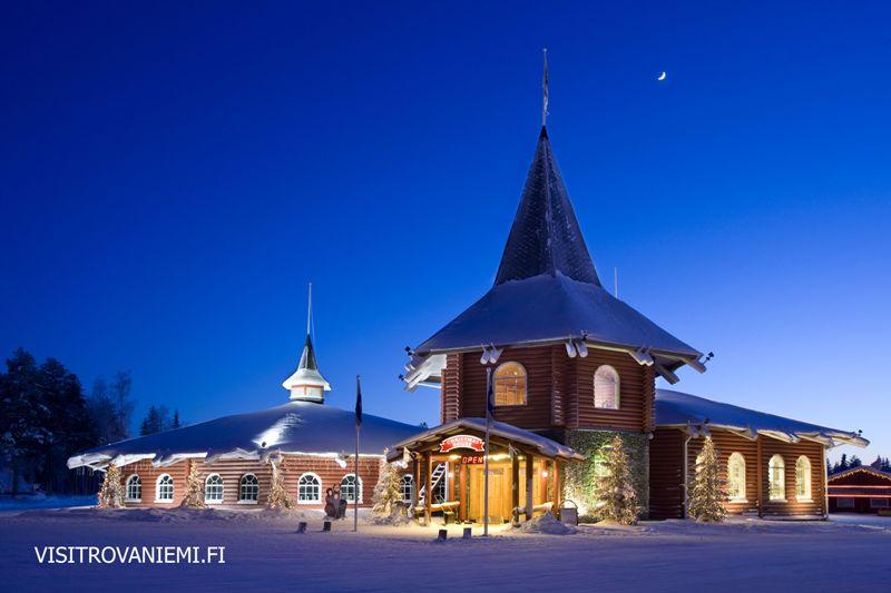 Domek Santa Klause na Polárním kruhu