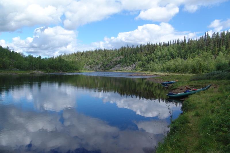 Finská řeka Ivalojoki