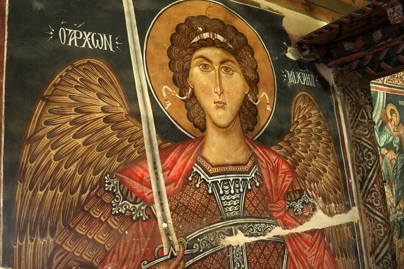 Freska z kostelíku Archangelos Michael