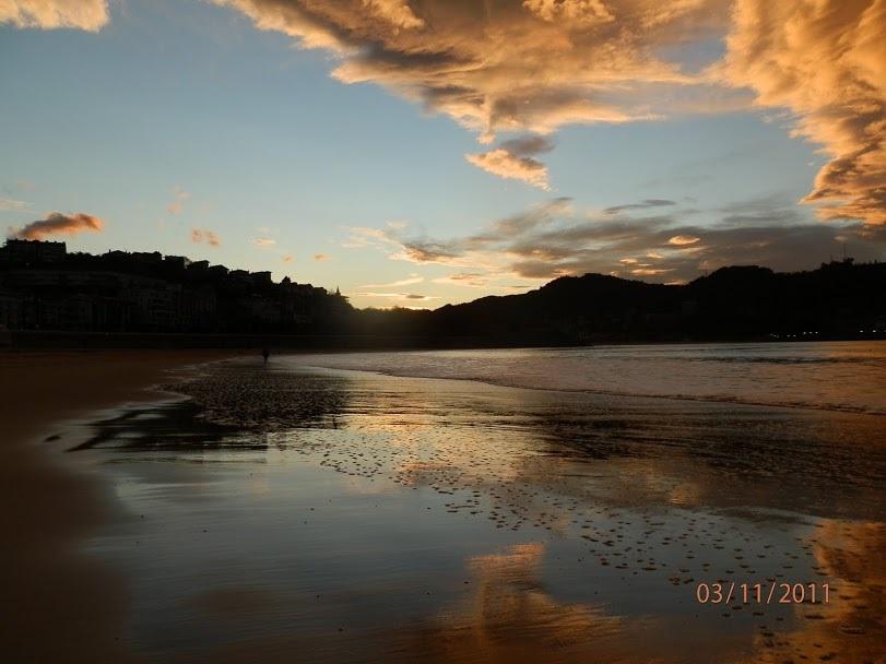 Pláž Playa de la Concha v San Sebastianu, Baskicko