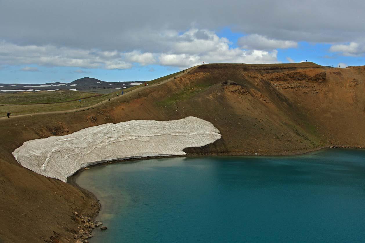 Kalderový kráter ležící nedaleko sopky Krafla