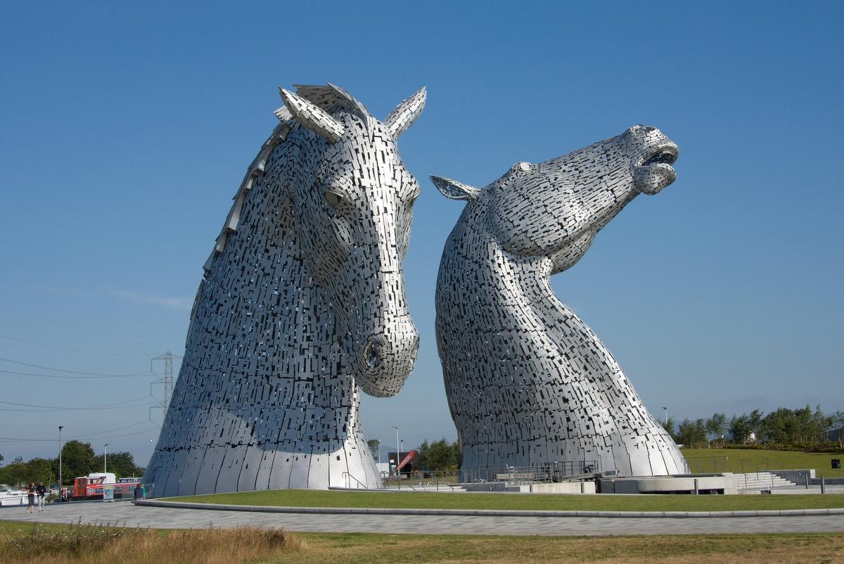 Kelpies - sochy u Falkirku