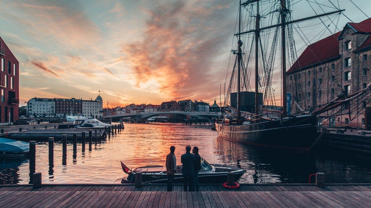Kodaň večer