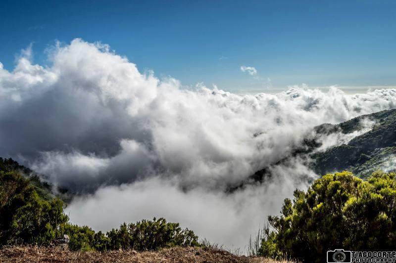 Krásná scenérie na horách Madeiry