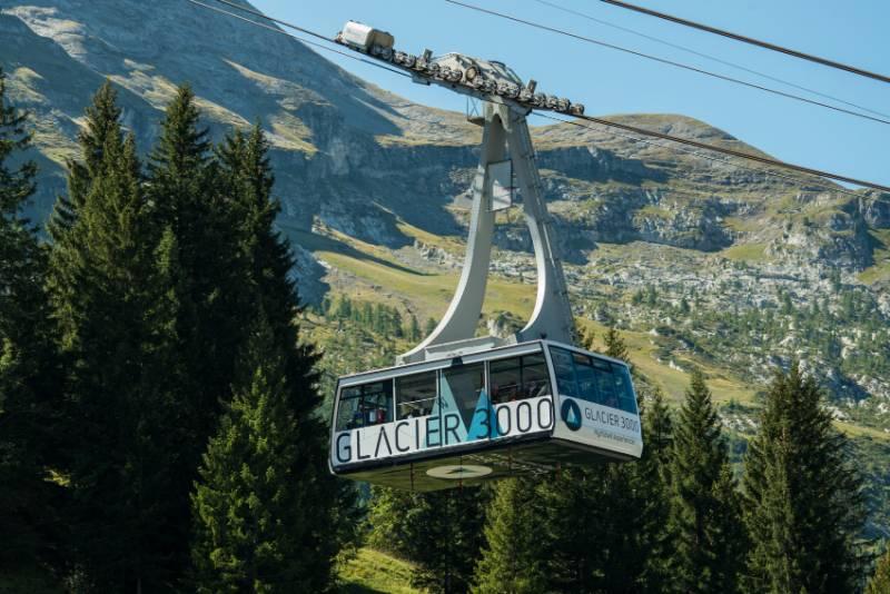 Lanovka ve Švýcarsku.