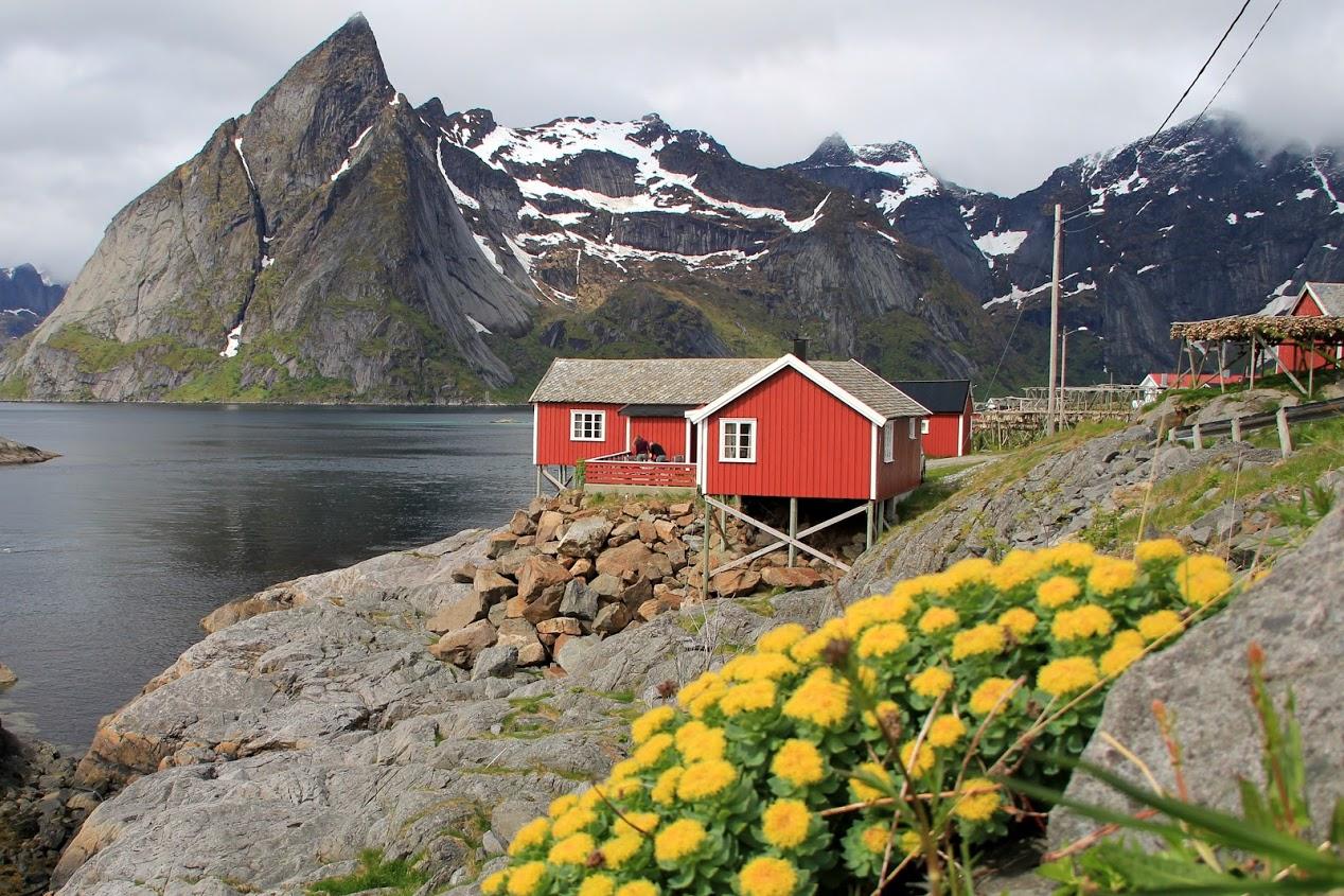 Typické domky na pobřeží