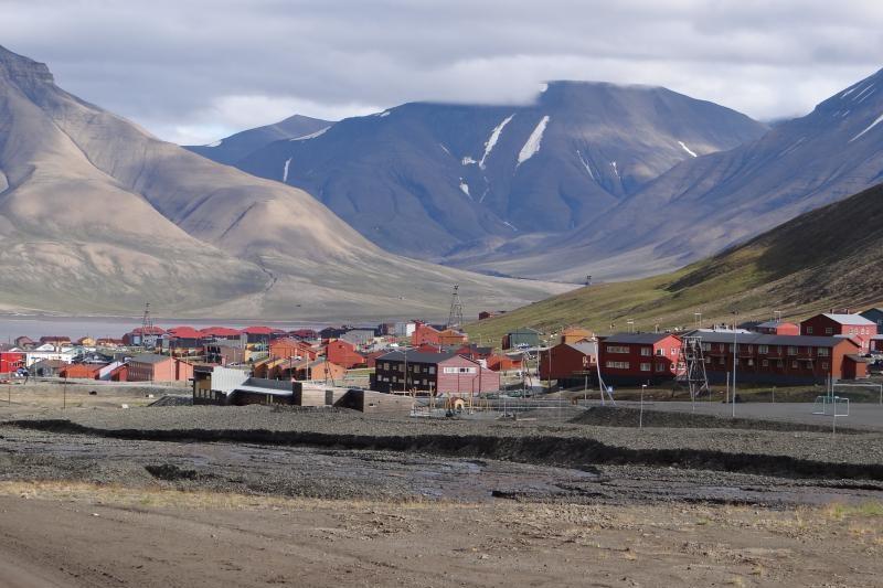 Longyearbyen je největší město na Špicberkách
