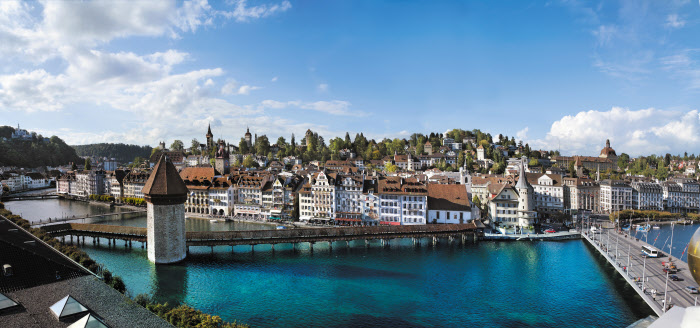Luzern – pohled na historické centrum