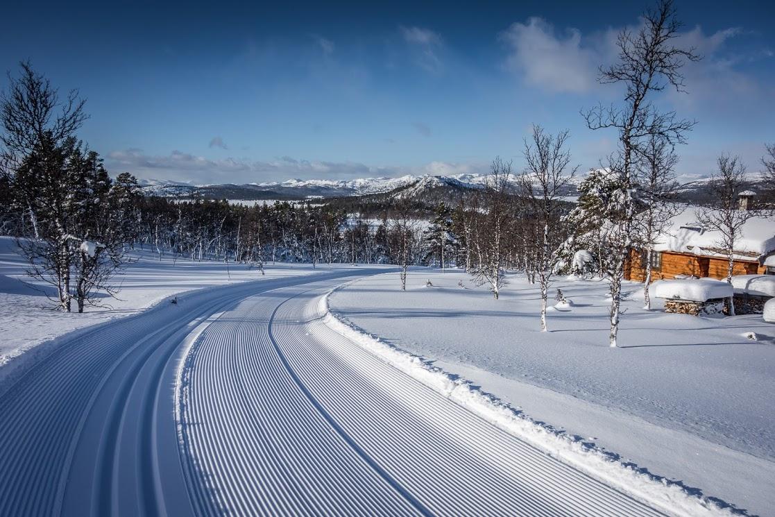 Scenérie zimního Norska