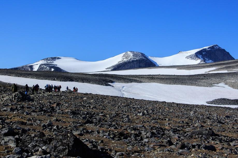 Nejvyšší hora Norska Galhopigen