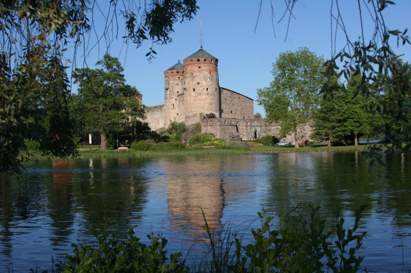 Ostrovní hrad Olavinlina Savonlina ve Finsku