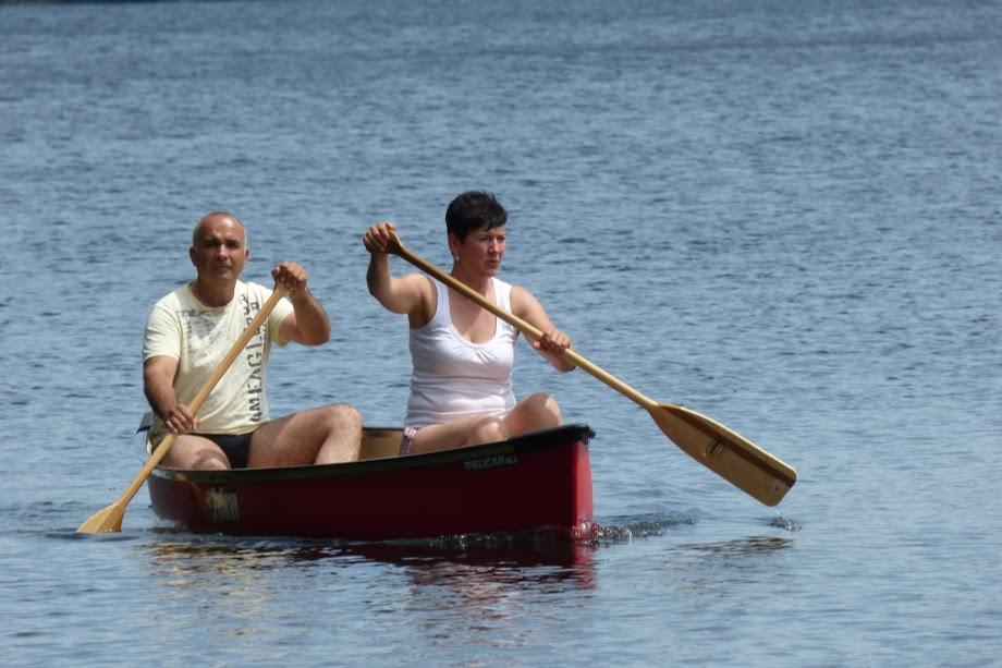 Plavba po jezeře v parku Algonquine