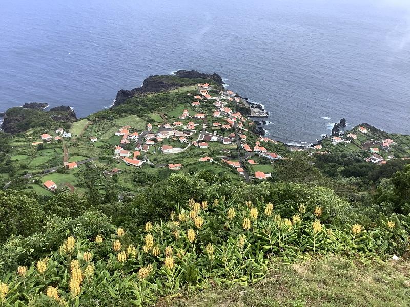 Poklidný život v zelené přírodě na ostrově Sao Jorge
