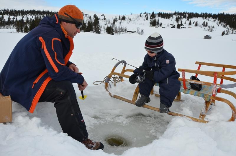 Rybaření na dírkách u Skeikampen