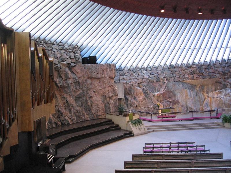 Skalní kostel v Helsinkách