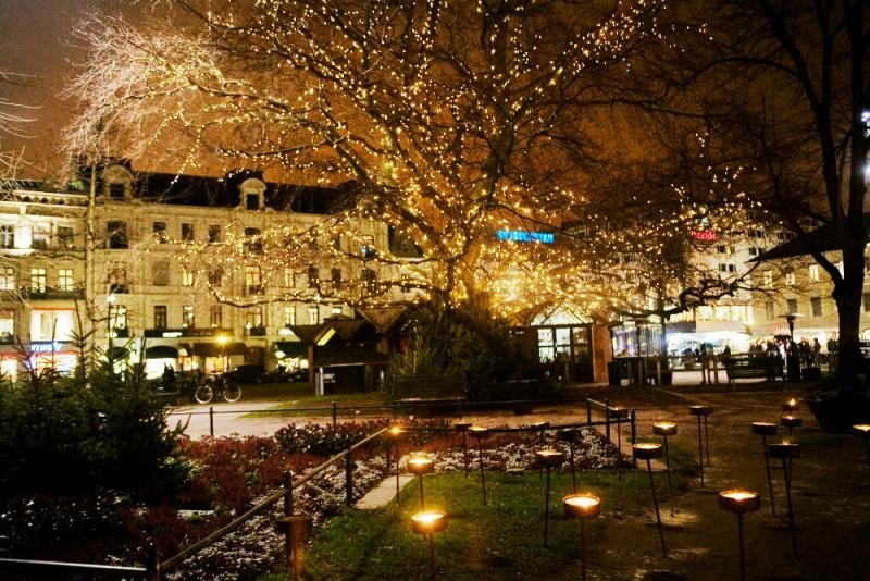 Stockholm - vánoční osvětlení