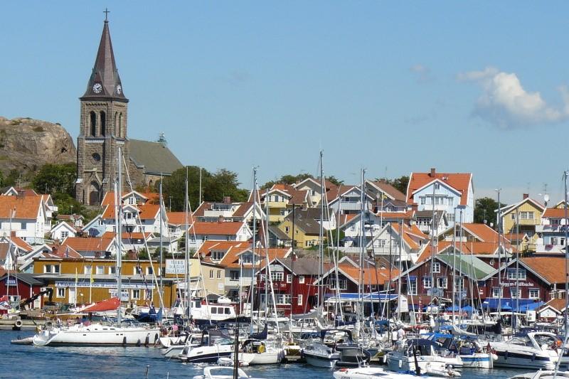 Švédské městečko Fjällbacka na západním pobřeží