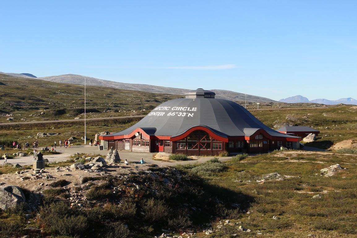 Turistické centrum na polárním kruhu