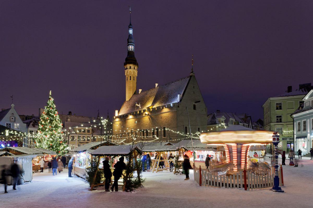 Vánoční trhy v Tallinnu
