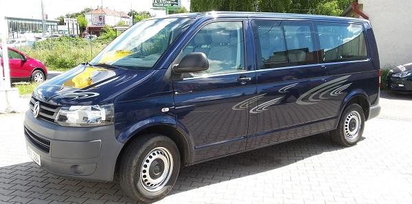 VW Transporter, 8+1 míst, dlouhá verze