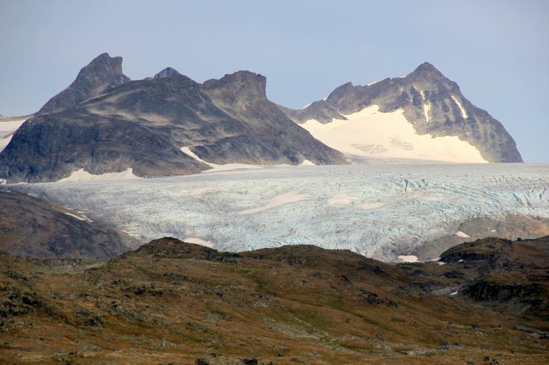 Výhled na nejvyšší horský průsmyk Sognefjellvegen