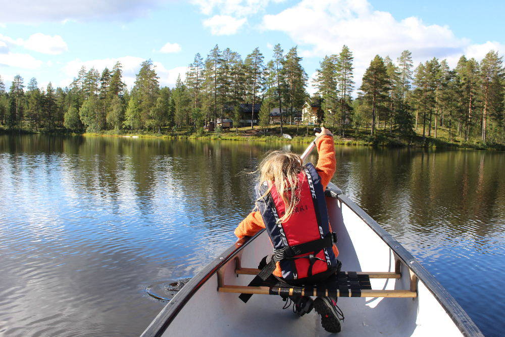 Výlet na kánoích, jezero Naamankajärvi
