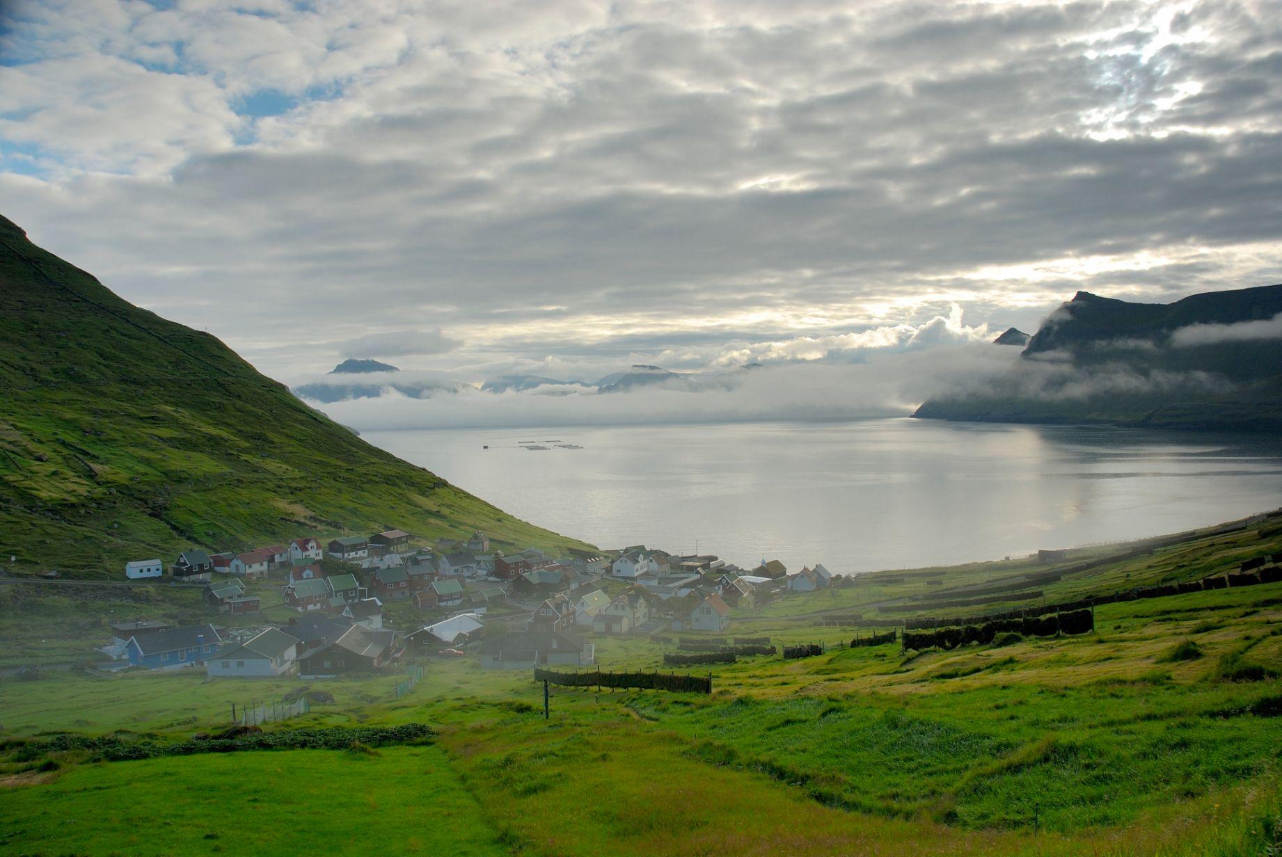 Osada Funningsfjordur na ostrově Eysturoy