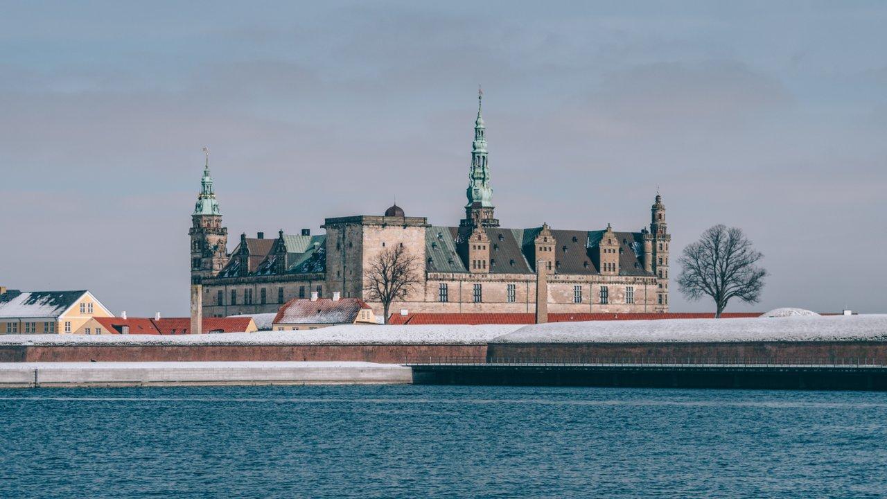 Zámek Kronborg v zimě