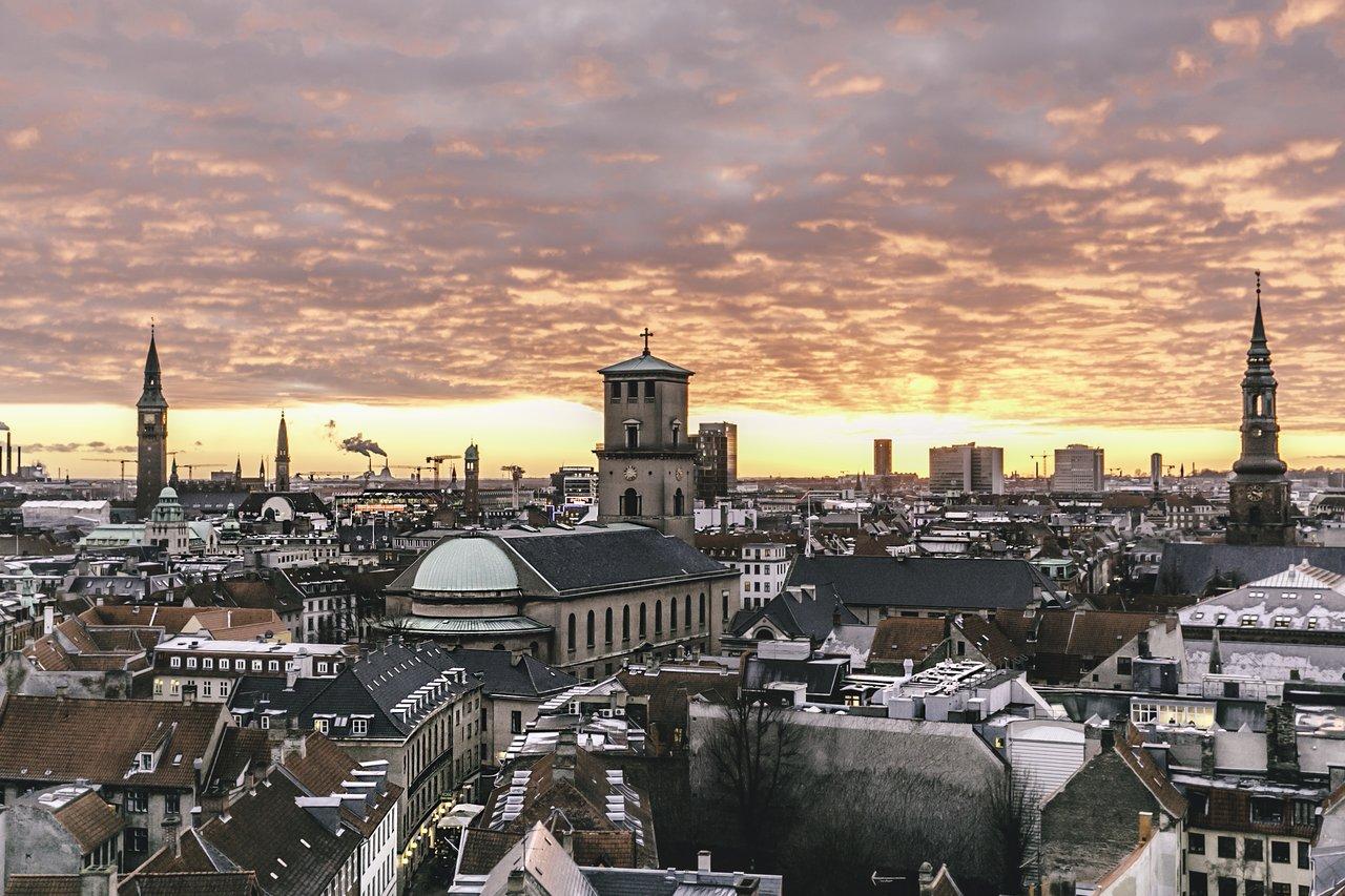 ZImní pohled na Kodaň