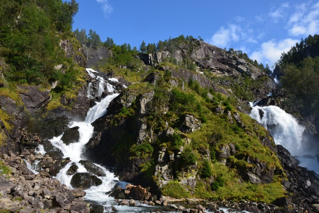 Vodopády Latefossen