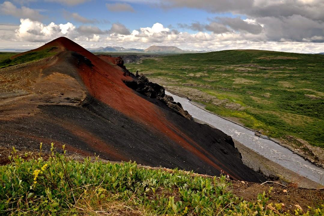 Červený vulkán Raudhólar